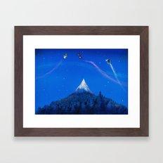 Mountain battle  Framed Art Print