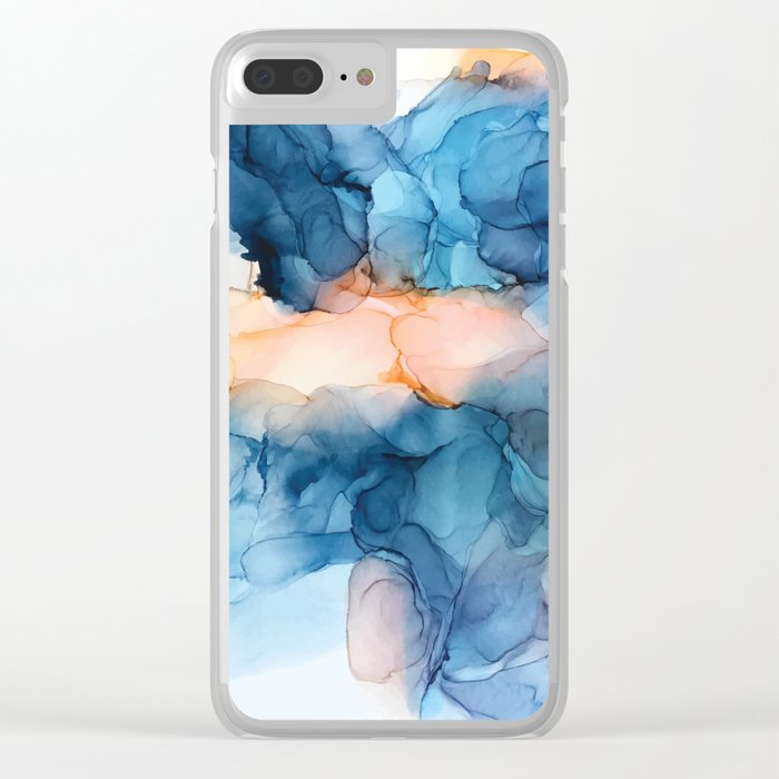 Captivate- Alcohol Ink Painting Clear iPhone Case
