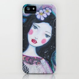 Apple Blossom Snow White iPhone Case