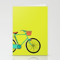 bicycle Stationery Cards featuring Bicycle by bluebutton studio