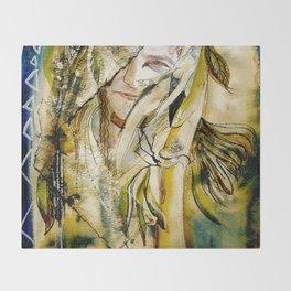 Golden Collar Throw Blanket