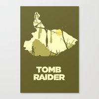tomb raider Canvas Prints featuring Tomb Raider by FelixT