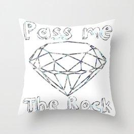 Pass me The Rock (White) Throw Pillow