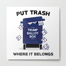 Trump Ballot Box Metal Print