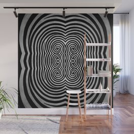 Cronky Acid Black and White Wall Mural