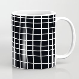 Handdawn Grid Black Coffee Mug