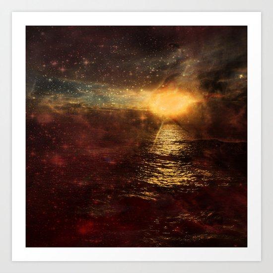 Italian Sunset  Art Print