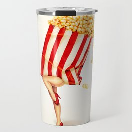 Popcorn Girl Travel Mug