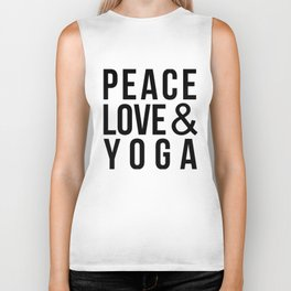 Peace Love & Yoga Biker Tank