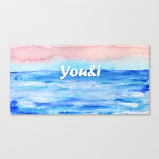 You&i Canvas Print