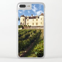 Medieval Castle in southwestern France Clear iPhone Case
