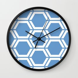 Livid - turquoise - Geometric Polygon Pattern Wall Clock