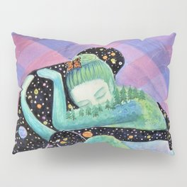 Space Earth Love Painting Nature Soul Mates Couple Wedding Art Tapestry (Infinite Love) Pillow Sham