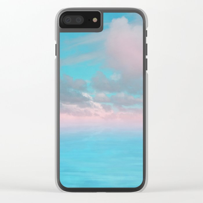 The Sea is Calm 03 Clear iPhone Case