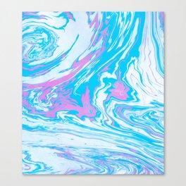 blue pink Canvas Print
