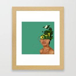 Lady Flowers VII Framed Art Print