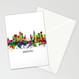 Denver Colorado Skyline Stationery Cards