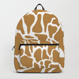 Golden organic shapes | Abstract rocks  Backpack