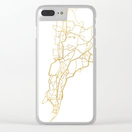 MUMBAI INDIA CITY STREET MAP ART Clear iPhone Case