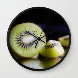 Sliced Kiwi Fruit - Kitchen or Cafe Decor Wall Clock