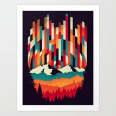 Sunset in Vertical Multicolor Art Print