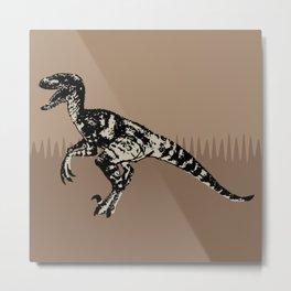 ChocoPaleo: Velociraptor Metal Print