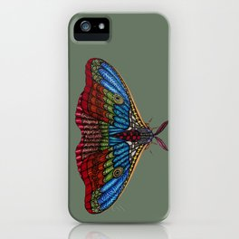 Shimmering Moth iPhone Case