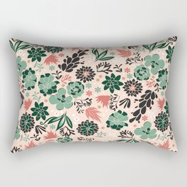 Succulent flowerbed Rectangular Pillow
