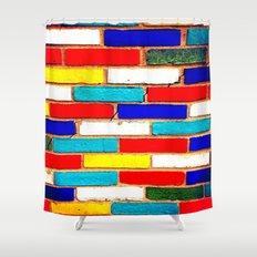 Vibrant Brick Shower Curtain