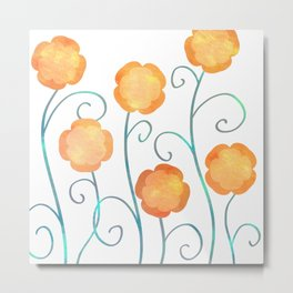 Silly Poppies Metal Print