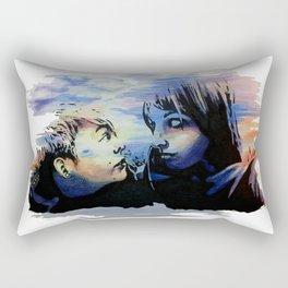 Partners in Crime Watercolor Rectangular Pillow