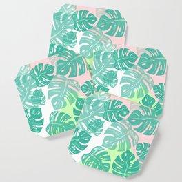 Linocut Monstera Tricolori Coaster