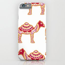 Henna Camels Pattern iPhone Case