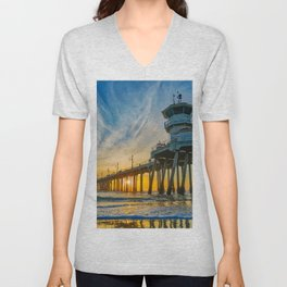 Tower Zero - Sentinel at Sunset Unisex V-Neck