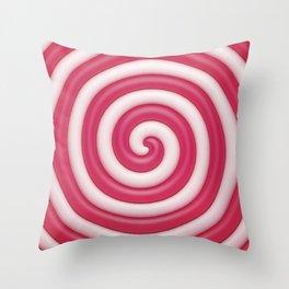 Pink Lollipop Throw Pillow