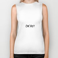 tfios Biker Tanks featuring Okay?  Boy Version TFIOS by swiftstore