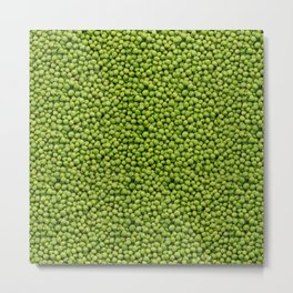 Green Peas Texture No1 Metal Print