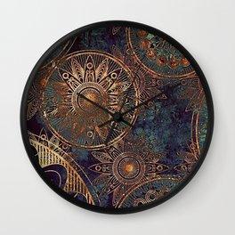 Steampunk Mandala Wall Clock