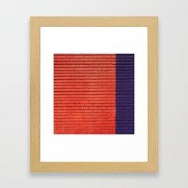 red & blue bricks Framed Art Print