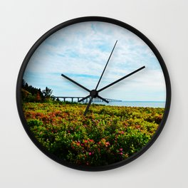 Wild Roses and the Big Bridge Wall Clock