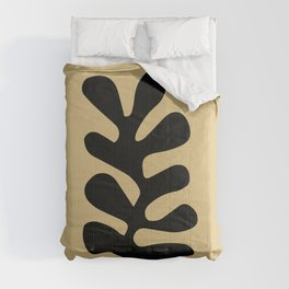 Henri matisse abstract leaf cutoff beige color wall art Comforters