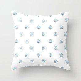 Blue Glitter Snowflake Deko-Kissen