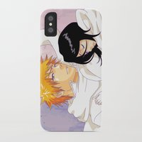 bleach iPhone & iPod Cases featuring Bleach: Ichigo X Rukia by Neo Crystal Tokyo