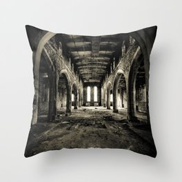 Abandoned Church Abercarn Throw Pillow