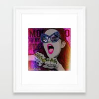 moschino Framed Art Prints featuring MOSCHINO by AZZURRA DESIGNS