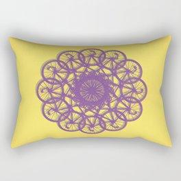 Cycle Circle Rectangular Pillow