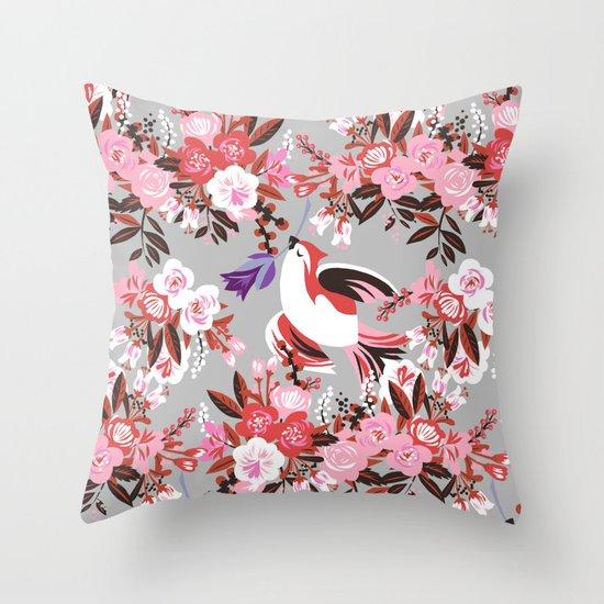 november bird Throw Pillow