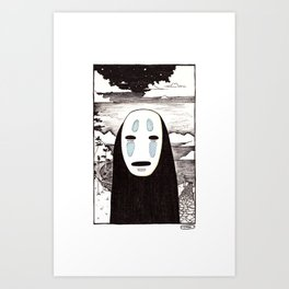 No Face Art Print