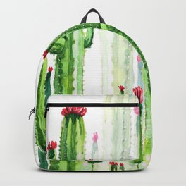 Green Cactus Field Backpack