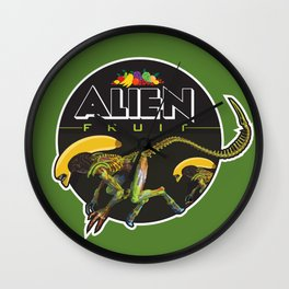 Alien Fruit Wall Clock